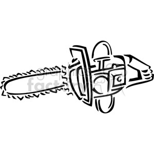 picture freeuse Chainsaw clipart. Black and white royalty.