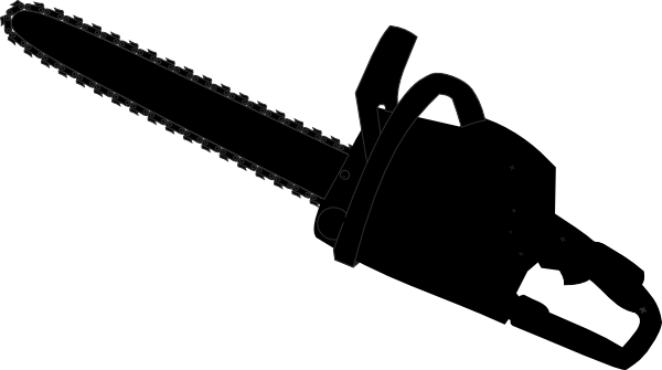 image library Chainsaw Black Outline Clip Art at Clker