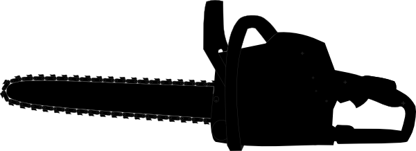 clipart freeuse library Chainsaw clipart. Black outline clip art.