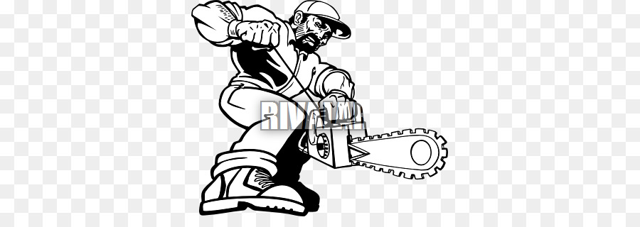 graphic black and white stock Hand cartoon saw white. Chainsaw clipart animated.