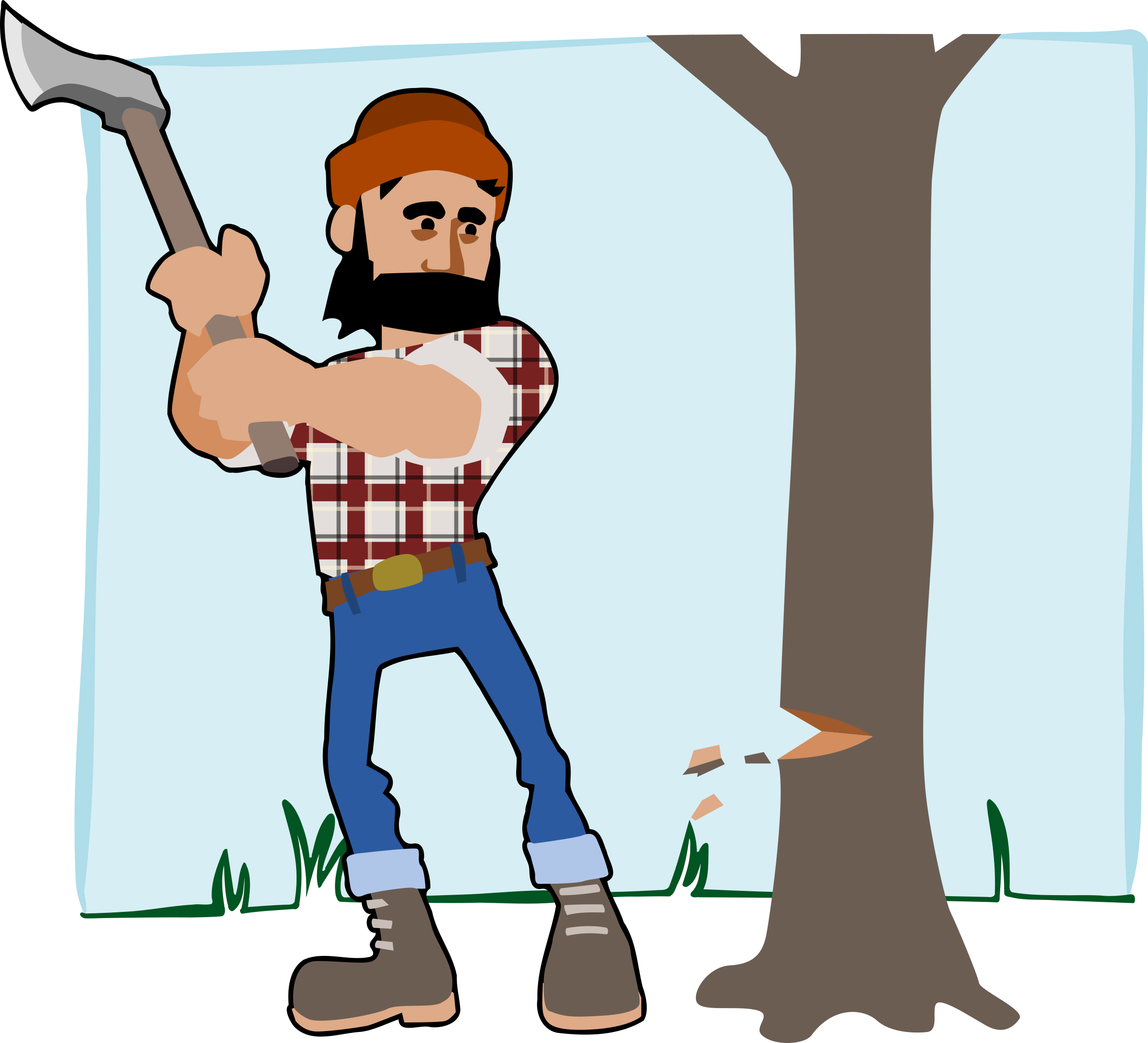 picture freeuse library Lumberjack Clipart Image Group