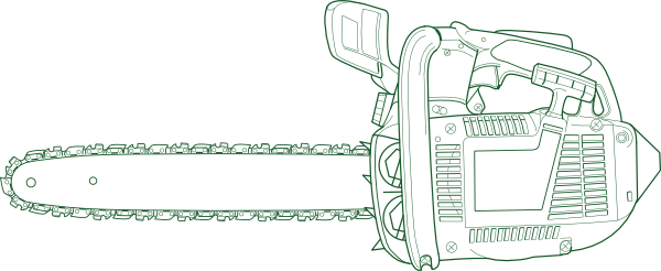 svg freeuse download chainsaw drawing