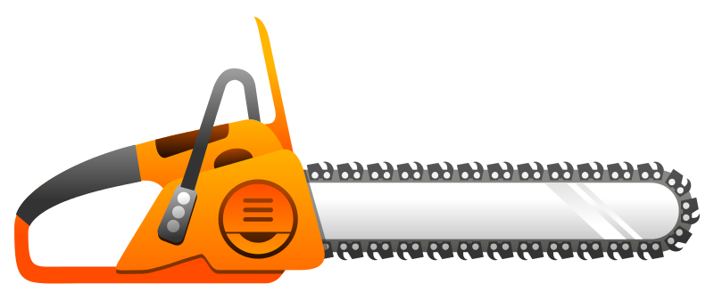 graphic royalty free stock Chainsaw clipart