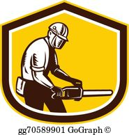 clip art freeuse library Transparent . Chainsaw clipart hard labor.