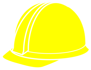 graphic stock Yellow hat clip art. Chainsaw clipart hard labor.