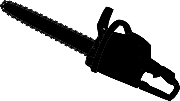 svg royalty free library Chainsaw Black Outline Clip Art at Clker