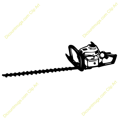 banner black and white Hedge . Chainsaw clipart trimmer.