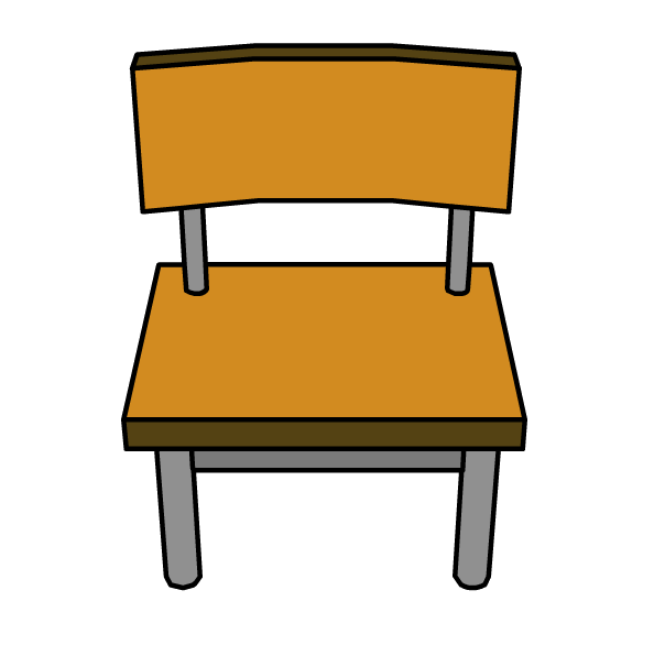svg black and white stock School . Chair clipart.