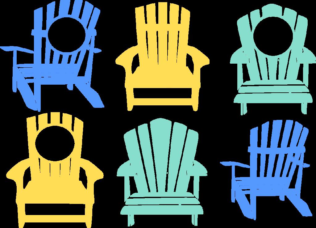 svg black and white Chair clipart adirondack chair. Beach svg cut files.