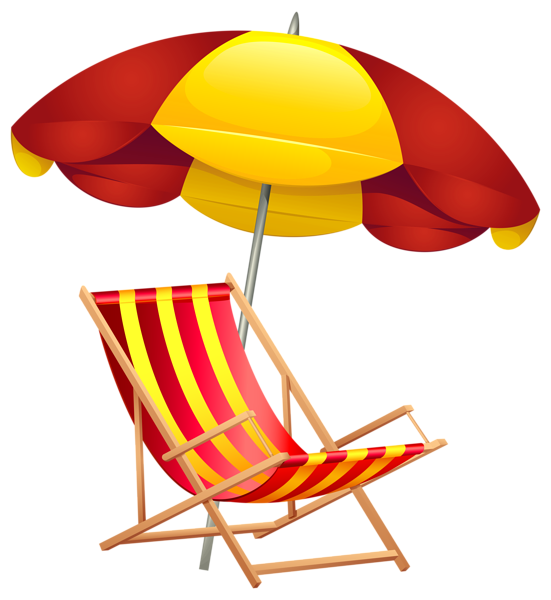 png black and white stock Beach Chair and Umbrella PNG Clip Art Image