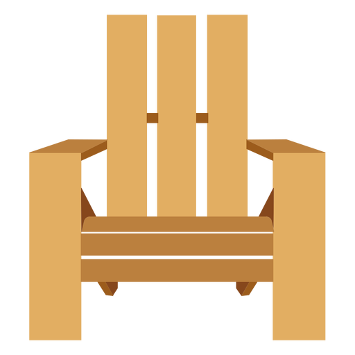 jpg transparent stock Front view transparent png. Chair clipart adirondack chair.