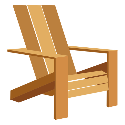 graphic free download Illustration transparent png svg. Chair clipart adirondack chair.