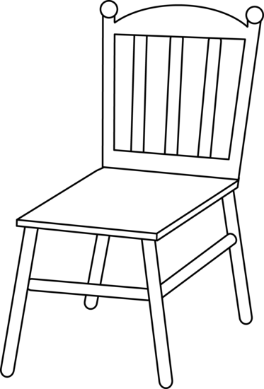 png black and white download . Chair clipart black and white