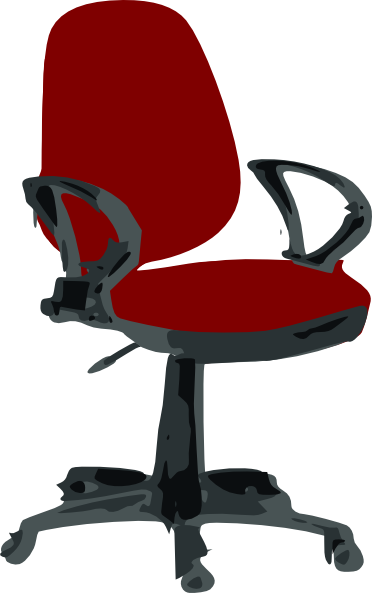 vector freeuse download Red desk clip art. Chair clipart office chair.