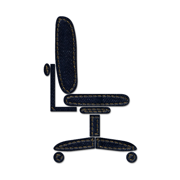 clipart black and white stock Chair clipart office chair. Icon free on dumielauxepices.