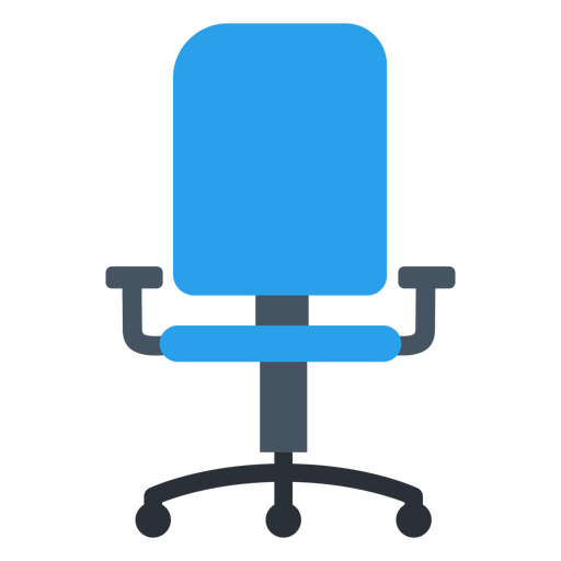 clipart free download Blue transparent png svg. Chair clipart office chair.