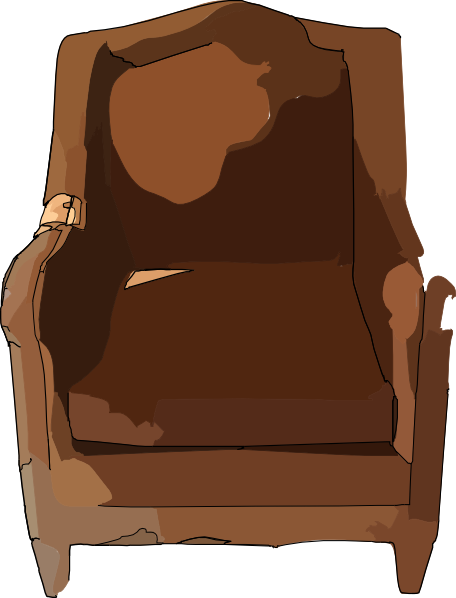 freeuse download Leather furniture clip art. Chair clipart old.
