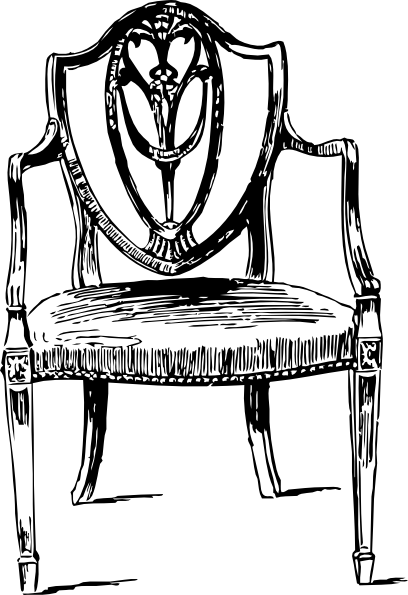 picture free library table and chairs clipart