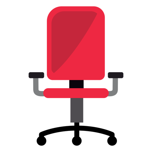 svg royalty free download Red office transparent png. Chair clipart svg.