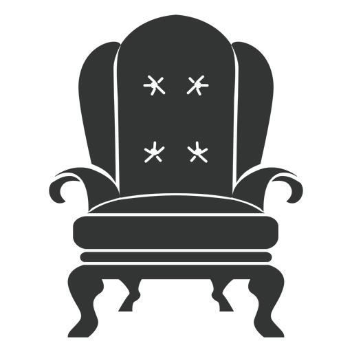 vector freeuse library Royal armchair flat icon. Chair clipart svg.