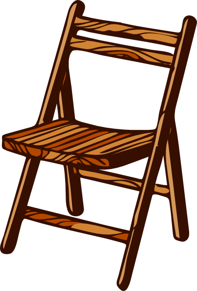 graphic black and white download Wooden folding clip art. Chair clipart svg.