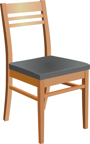 clipart royalty free download Wooden chair clip art. Vacuuming clipart dining table