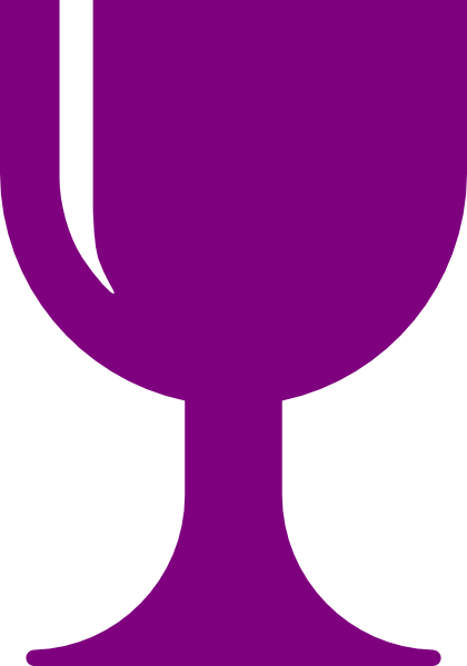 picture freeuse Chalice clipart. Purple clip art at.