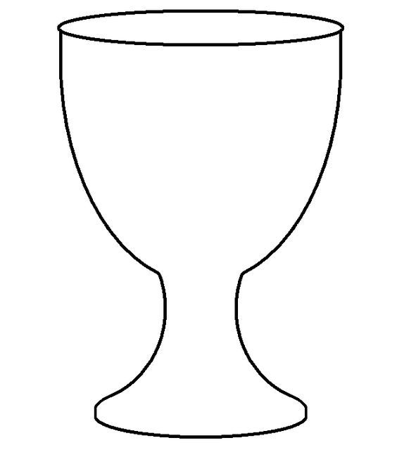 clip art freeuse library Template for first holy. Chalice clipart goblet.