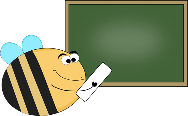 picture transparent Bee chalkboard clip art. Chalk clipart crayon.