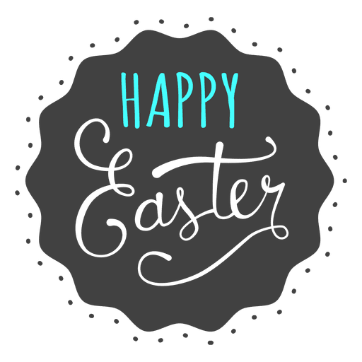 royalty free library Happy easter black background message