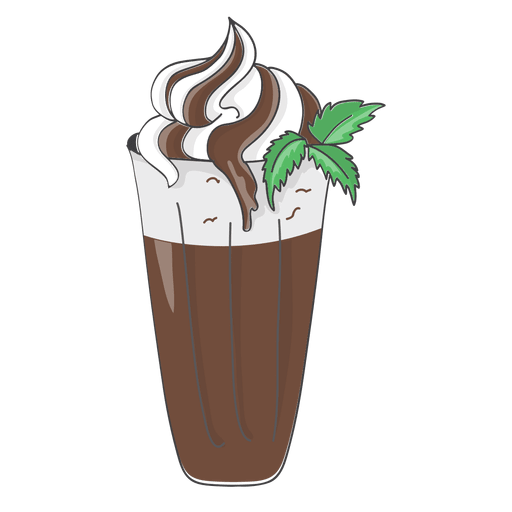 clipart stock Chocolate milkshake illustration