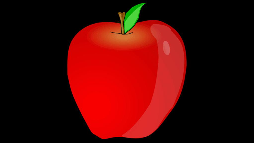 vector Apple chalkboard clipart