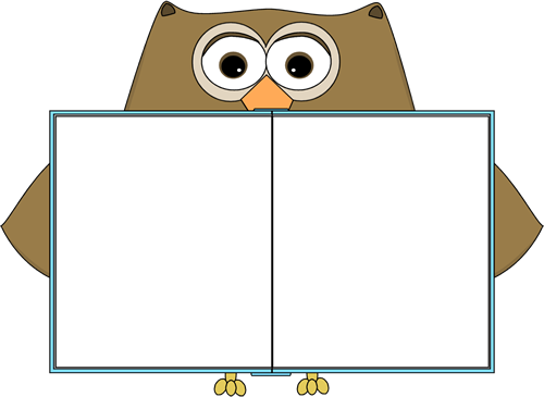clip art stock Owl holding a book. Chalkboard clipart brown.