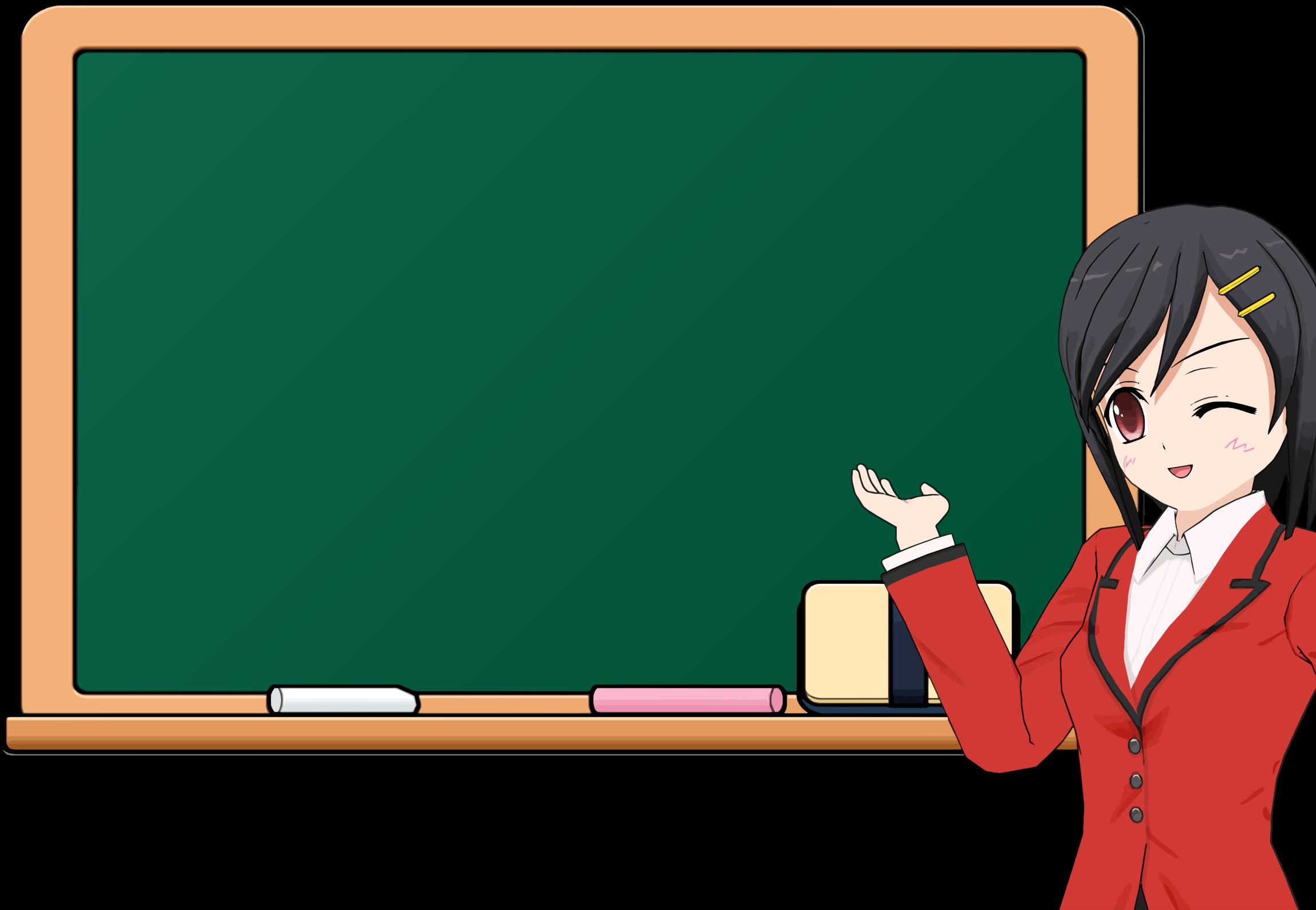 svg stock Anime girl school icons. Chalkboard clipart gray.