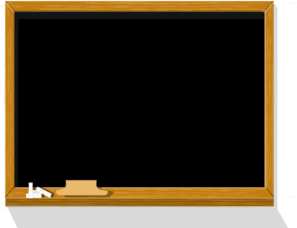 graphic black and white Clip art at clker. Chalkboard clipart