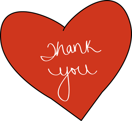 image black and white library Thank You Clip Art
