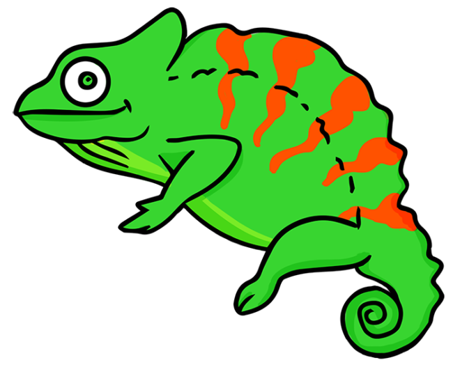 clipart freeuse library Chameleon clipart. Nice coloring pages for