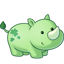 vector transparent stock Chameleon clipart adorable. Green rhino baby with.