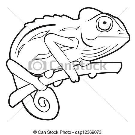 jpg Chameleon clipart drawing. Vector stock illustration royalty.