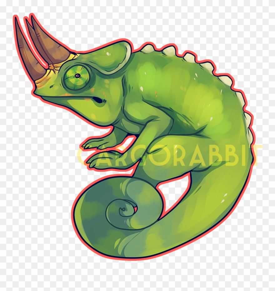 black and white library Jackson png . Chameleon clipart drawing.