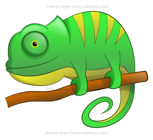 jpg black and white Chameleon clipart drawing. How to draw a.