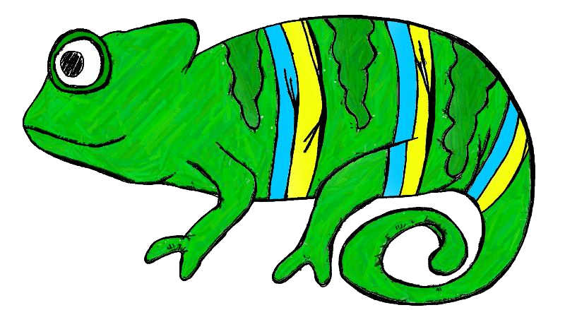 graphic free Rainforest animal clipart. Chameleon free collection download