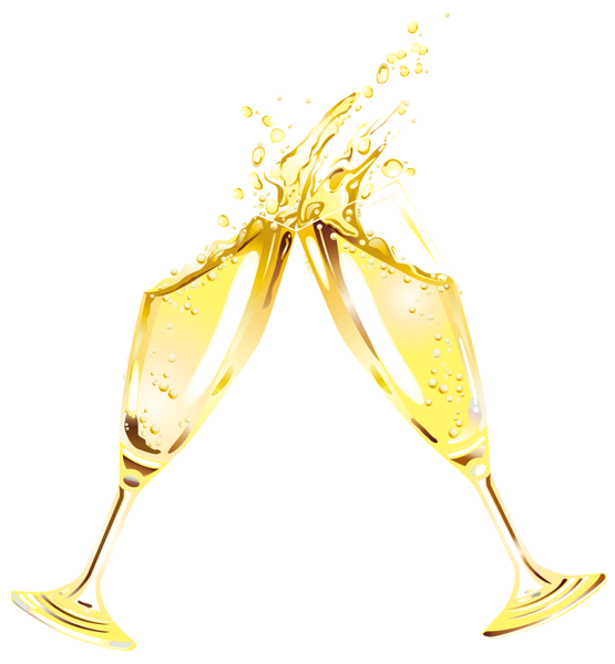 graphic stock New year flutes ano. Champagne clipart.