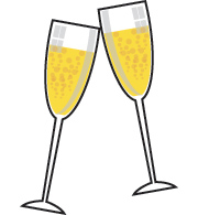 picture black and white library Champagne clipart. Free cliparts download clip.