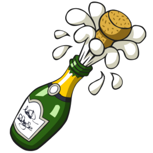 clip art freeuse stock Champagne clipart. Ist popping bottle free.