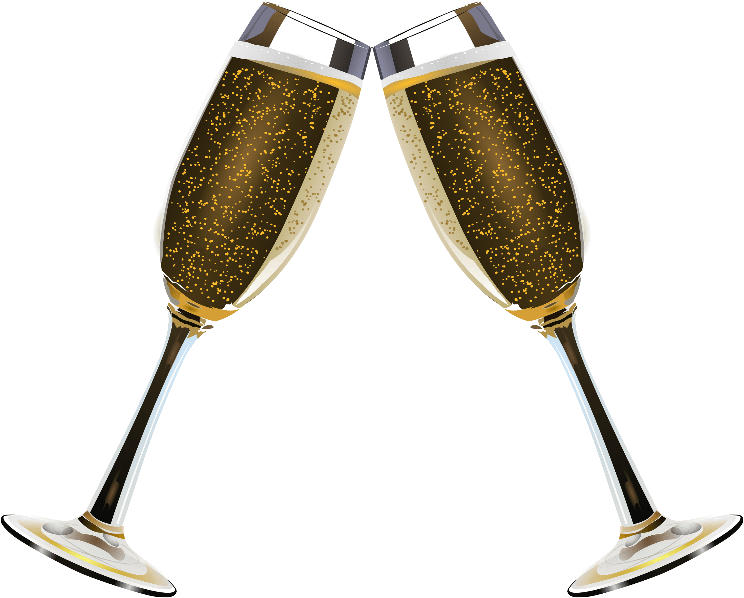 png black and white stock Champagne clipart glassware. Duo of glasses transparent.