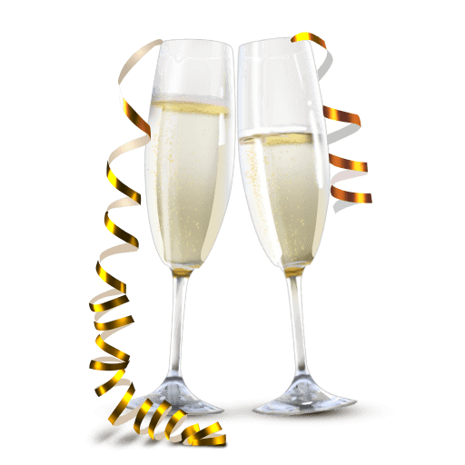 png royalty free Champagne Glasses transparent PNG