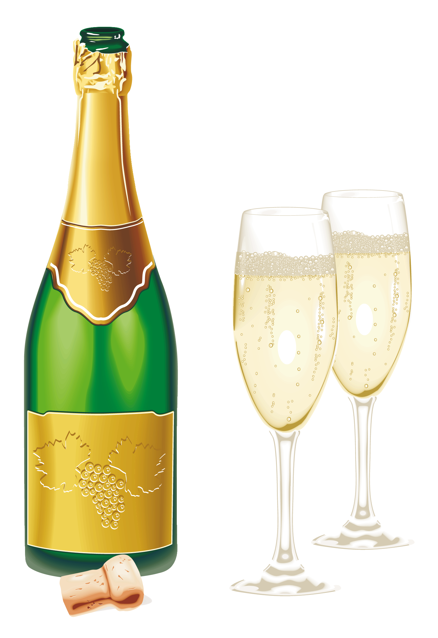 graphic free download New year open with. Champagne clipart glassware.