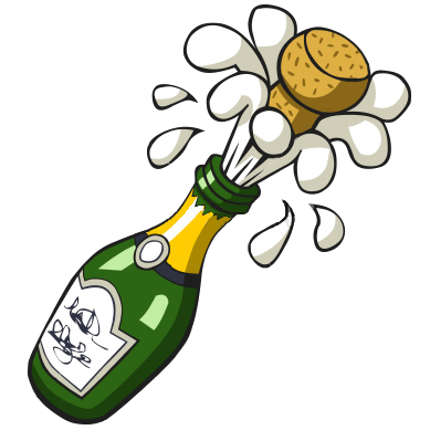 clip transparent Champagne clipart interactive. Ist popping bottle free