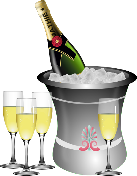 clip royalty free download Champagne clipart new years eve. Year s celebration clip.